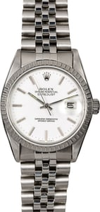 Pre-Owned Rolex Datejust 16030 White Dial