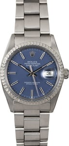 Rolex Datejust 16030 Steel Oyster Blue Dial
