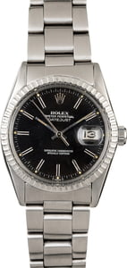Pre-Owned Rolex Datejust 16030 Black Dial