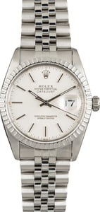 Used Rolex Datejust 16030 Silver Index Dial