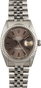 Rolex Datejust 16030 Slate Index Dial Engine-Turned Bezel