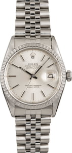 Pre-Owned Rolex Datejust 16030 Silver Index Dial