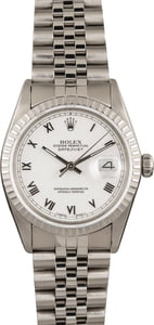 Pre-Owned Rolex Datejust 16030 White Roman Dial