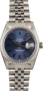 Used Rolex Datejust 16030 Blue Index Dial