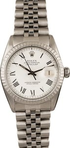 Pre-Owned Rolex Datejust 16030 White 'Buckley' Dial