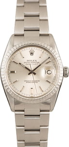 Mens Rolex Datejust 16030 Silver Dial