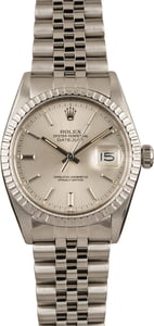 Pre-Owned Rolex Datejust 16030 Silver Dial Watch