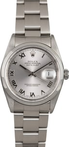 Rolex Datejust 16200 Rhodium Dial