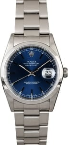 Rolex Datejust 16200 Blue Dial Steel Oyster