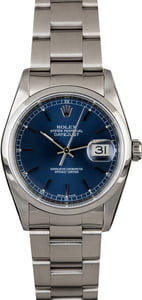 Rolex Datejust 16200 Blue Index Dial