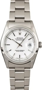 Rolex Datejust 16200 White Dial Steel Oyster