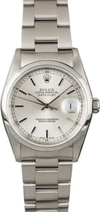 Rolex Datejust 16200 Silver Dial Steel Oyster