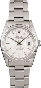 Rolex Datejust 16200 Silver Tapestry Dial