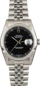 Rolex 16200 Pre-Owned Black Dial