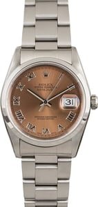 PreOwned Rolex Datejust 16200 Salmon Dial