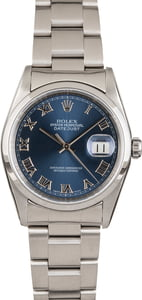 Pre-Owned Rolex Datejust 16200 Blue Roman Dial