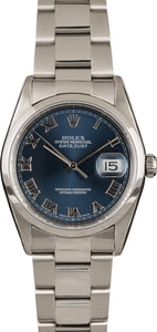 Pre-Owned Rolex Datejust 16200 Roman Markers