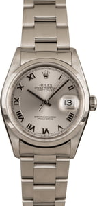 Pre-Owned Rolex Datejust 16200 Silver Roman Dial