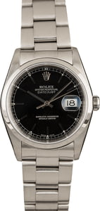 Pre-Owned Rolex Datejust 16200 Black Dial
