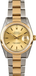 Rolex Datejust 16203 Two Tone Oyster Bracelet