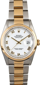 Rolex Datejust 16203 White Dial