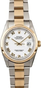 Rolex Datejust 16203 Two Tone with White Dial