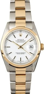 Used Rolex Datejust 16203 Two Tone Oyster Band