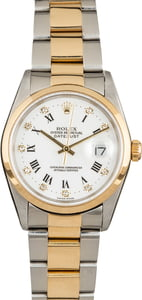 Rolex Datejust 16203 White Roman Diamond Dial
