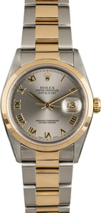Pre-Owned Rolex Datejust 16203 Rhodium Roman Dial