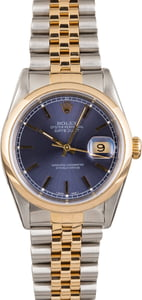PreOwned Rolex Datejust 16203 Blue Dial