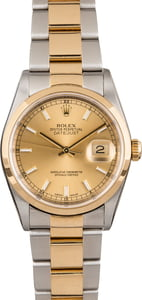 Used Rolex Datejust 16203 Champagne Dial