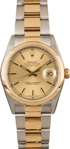Pre-Owned Rolex Datejust 16203 Champagne Index Dial