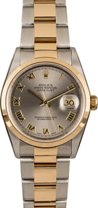 Pre Owned Rolex Datejust 16203 Rhodium Dial