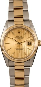 Pre-Owned Rolex Datejust 16203 Champagne Tapestry Dial