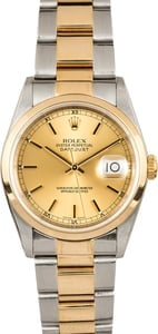Rolex Datejust 16203 Champagne Dial