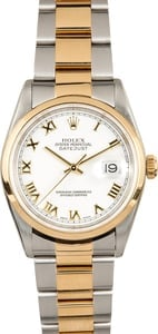 Rolex Datejust 16203 White Roman