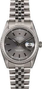 Men's Rolex Datejust 16220 Slate Dial