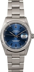 Men's Rolex Datejust 16220 Blue Dial