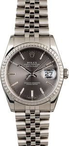 PreOwned Rolex Datejust 16220 Slate Tapestry Dial