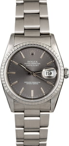 Rolex Datejust 16220 Slate Index Dial