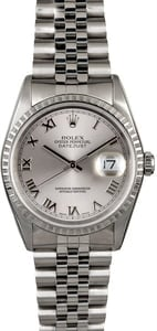 Men's Rolex Datejust 16220 Steel Jubilee Band