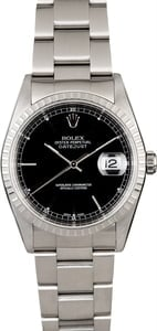 Rolex Datejust 16220 Black Dial Steel Oyster