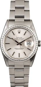 Used Rolex Datejust 16220 Silver Dial Steel Oyster Bracelet