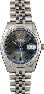 Rolex Datejust 16220 Steel Jubilee with Blue Dial