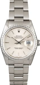 Men's Rolex Datejust 16220 Silver Dial Steel Oyster