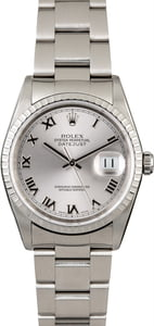 Rolex Datejust 16220 Rhodium Dial