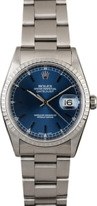 Rolex Datejust 16220 Blue Dial Steel Oyster
