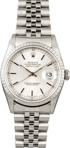 PreOwned Rolex Datejust 16220 Silver Index Dial