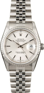 Used Rolex Datejust 16220 Silver Index Dial