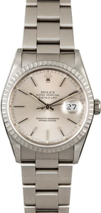 Rolex Datejust 16220 Silver Dial Steel Oyster Band